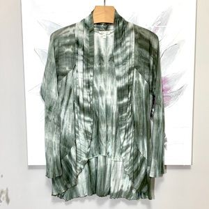 Silence+Noise Anthro Cardigan Green Size M